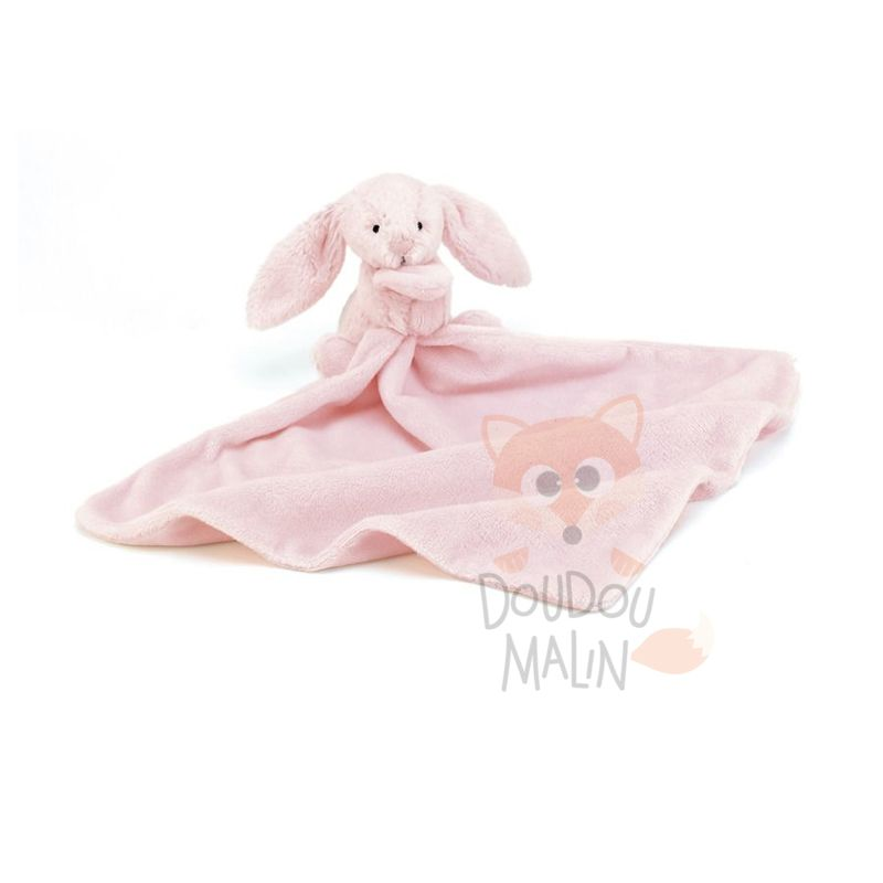bashful bunny soother lapin rose