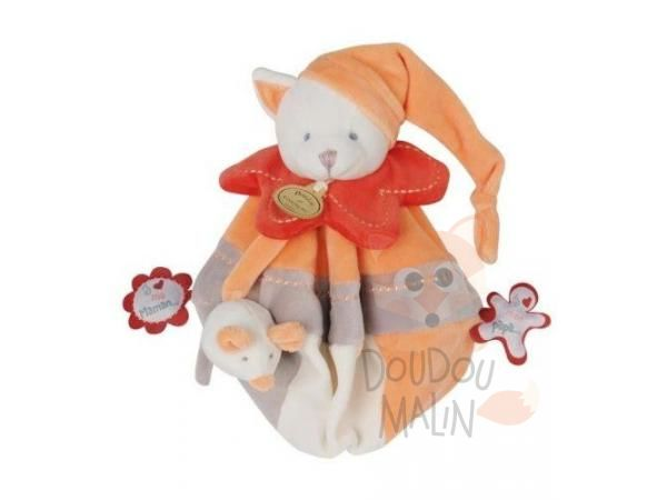 collector anniversaire chat et souris plat rond orange rouge gris blanc