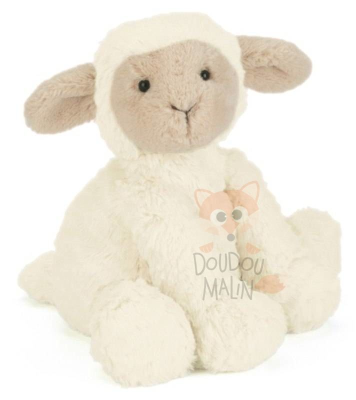 mouton assis beige marron