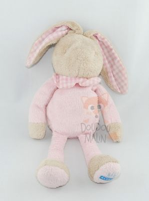 lapin vichy rose beige