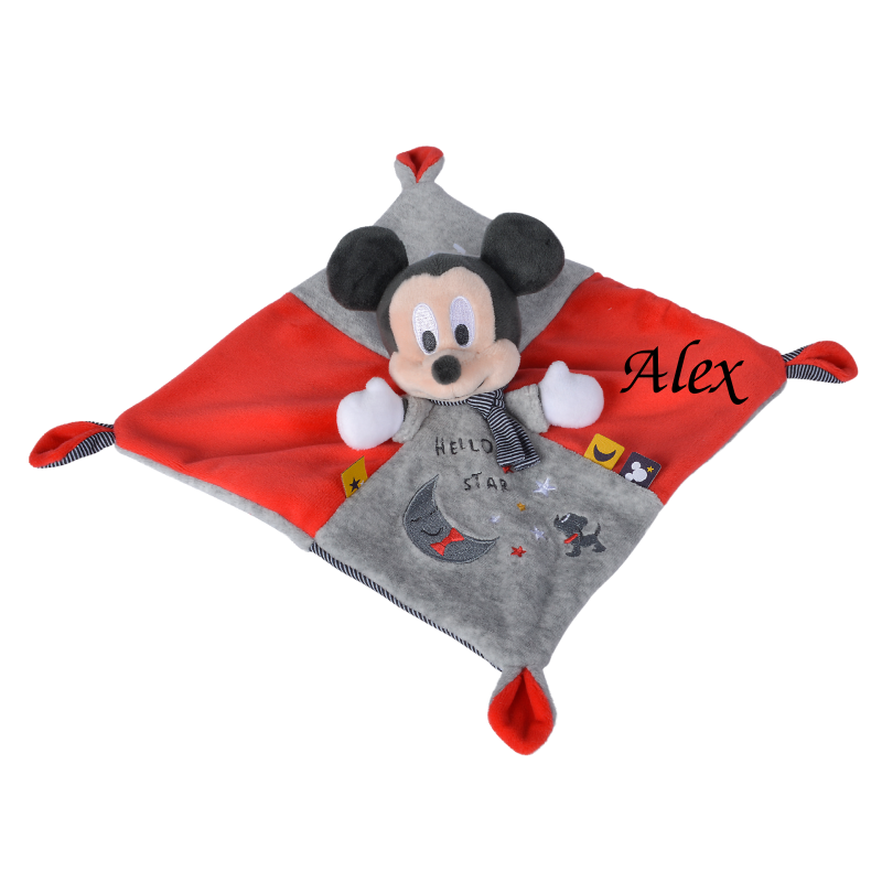 mickey souris plat stary night rouge gris 25 cm