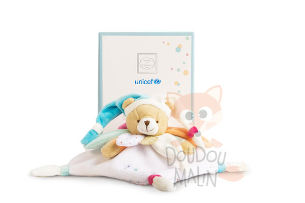 Doudou et Compagnie Unicef Baby comforter Bear White