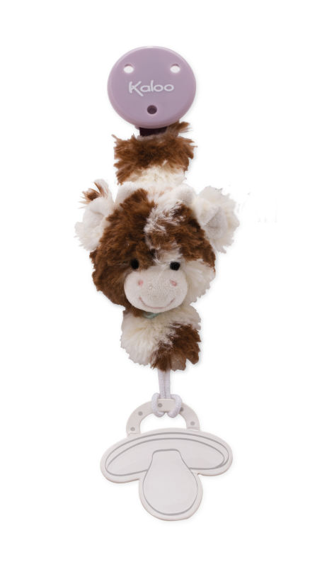 milky vache attache sucette marron blanc