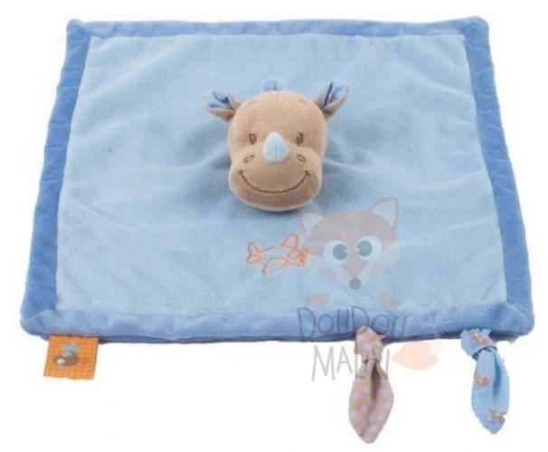 Nattou Arthur & Louis Baby comforter Rhinoceros Blue