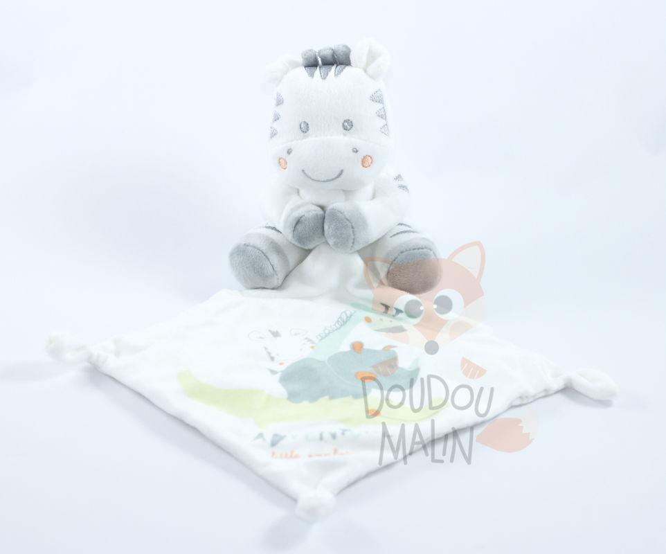 doudou hippopotame blanc gris adventure little explorers simba toys état neuf