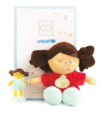 Doudou et Compagnie Unicef Soft toy Doll Pink