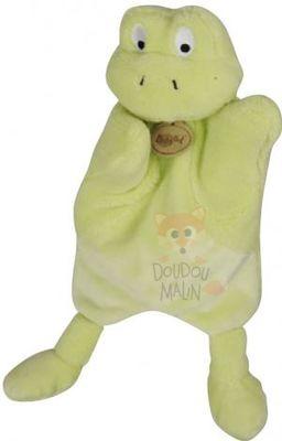 baby 39 nat nature microfibre marionnette grenouille vert. Black Bedroom Furniture Sets. Home Design Ideas