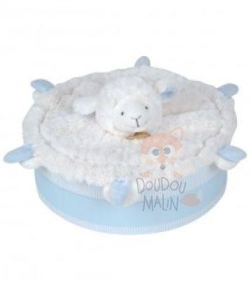 doudou et compagnie mon tout petit doudou plat mouton bleu. Black Bedroom Furniture Sets. Home Design Ideas