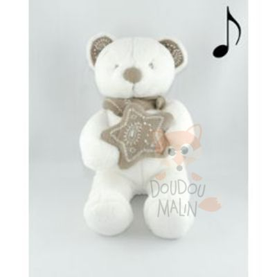 Nicotoy Mon ami Teddy Musical soft toy Bear White