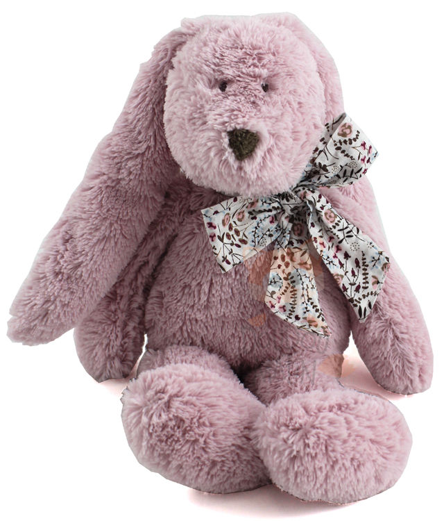 flore peluche lapin rose noeud liberty