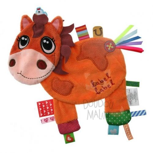 plat poney cheval orange marron