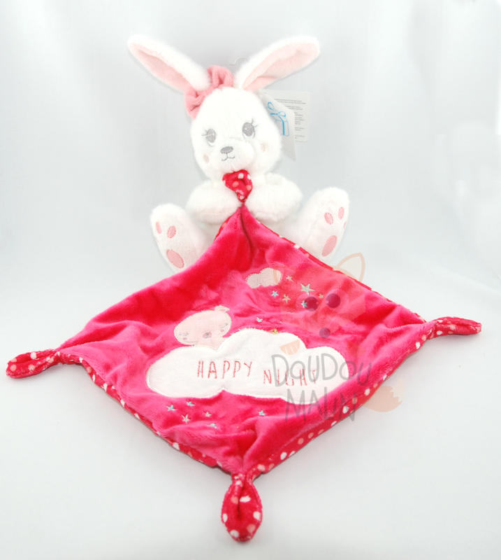 lapin mouchoir blanc rose rouge happy night étoile nuage