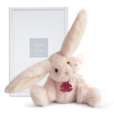 fluffy peluche lapin rose