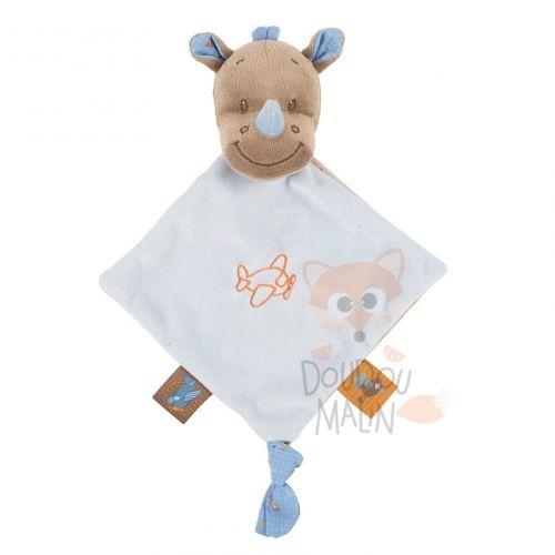Nattou Arthur & Louis Soft toy Rhinoceros Blue