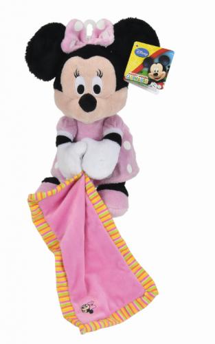 Doudou Malin Disney Minnie Mouse Comforter Glow in dark Pink 25 cm