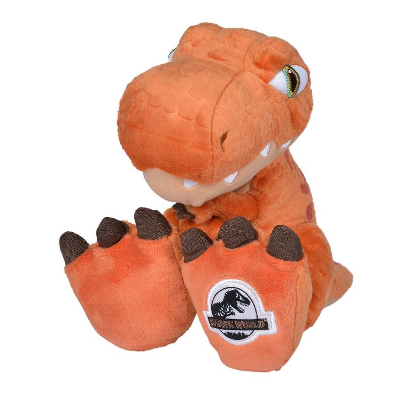 Universal jurassic world peluche dinosaure t-rex orange 25 cm
