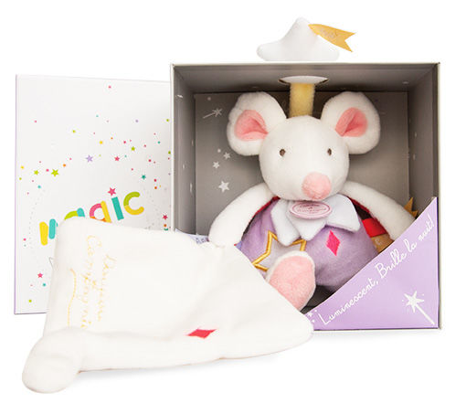 magic luminescent mouchoir souris violet étoile