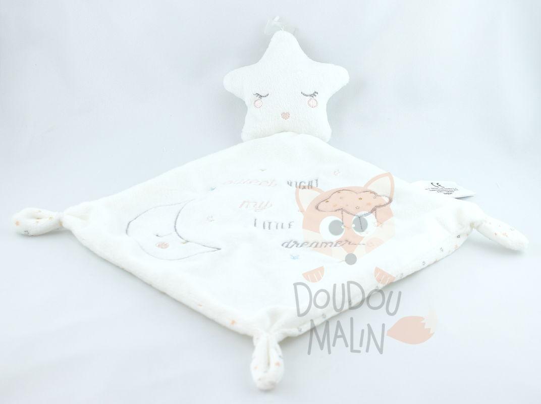 doudou lapin blanc rose happy night étoile pois simba toys état neuf