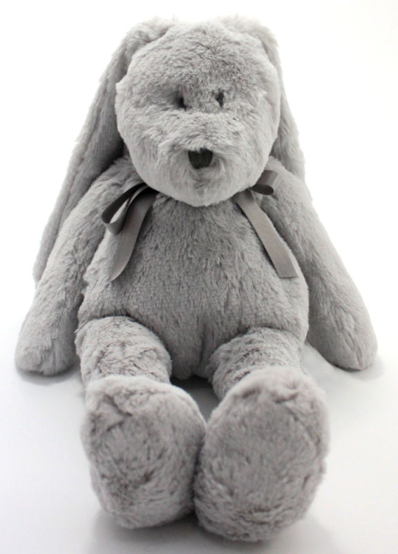 neela peluche lapin gris noeud medium