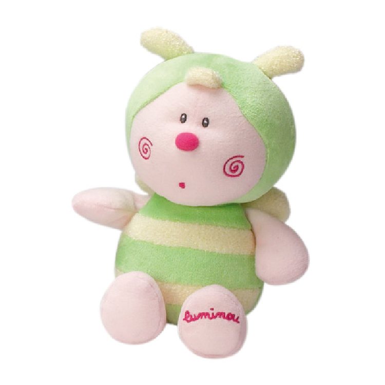 luminou peluche luminescente papillon vert 15 cm