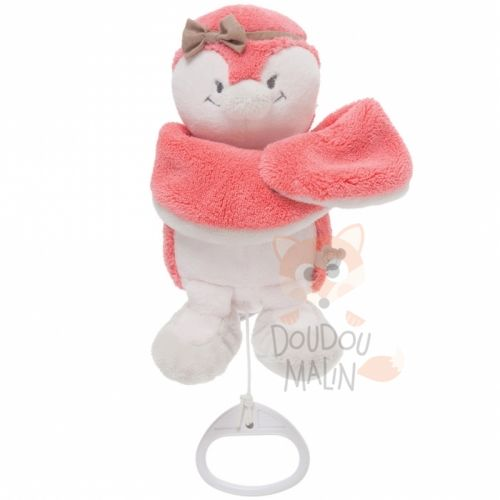 daisy et coco musical pingouin rose beige noeud