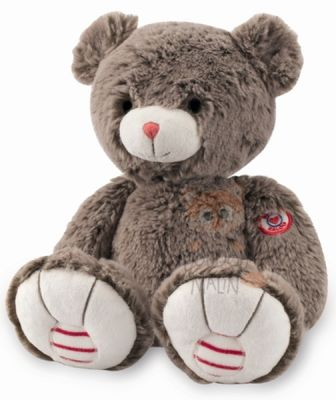 rouge  peluche ours marron cacao medium 25 cm