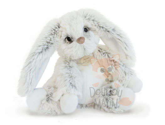 softy peluche lapin perle gris 25 cm