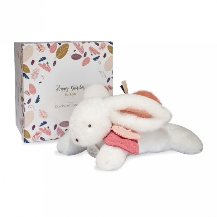 - happy - peluche lapin boho terracotta 25 cm
