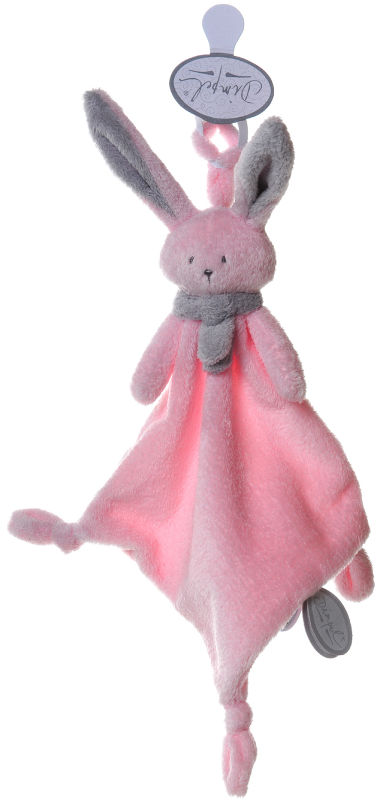 nina lapin attache sucette rose gris