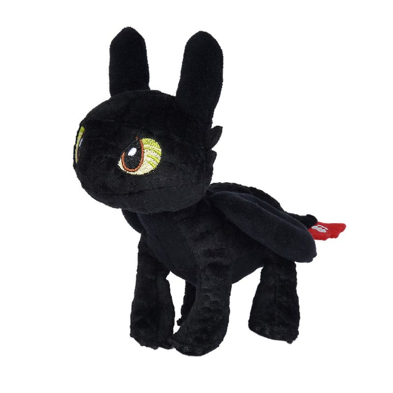 Dragons peluche krokmou dragon noir 25 cm