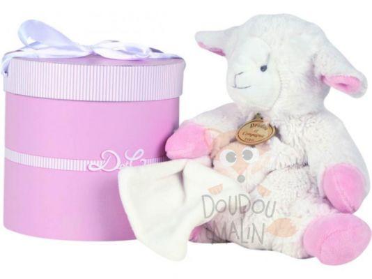 doudou et compagnie mon tout petit peluche mouton rose. Black Bedroom Furniture Sets. Home Design Ideas