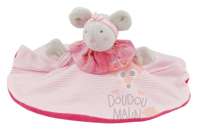 Moulin Roty Lila Baby Comforter Mouse Pink