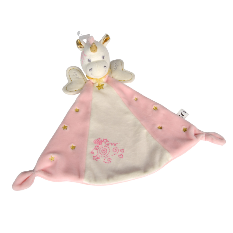 plat licorne rose or