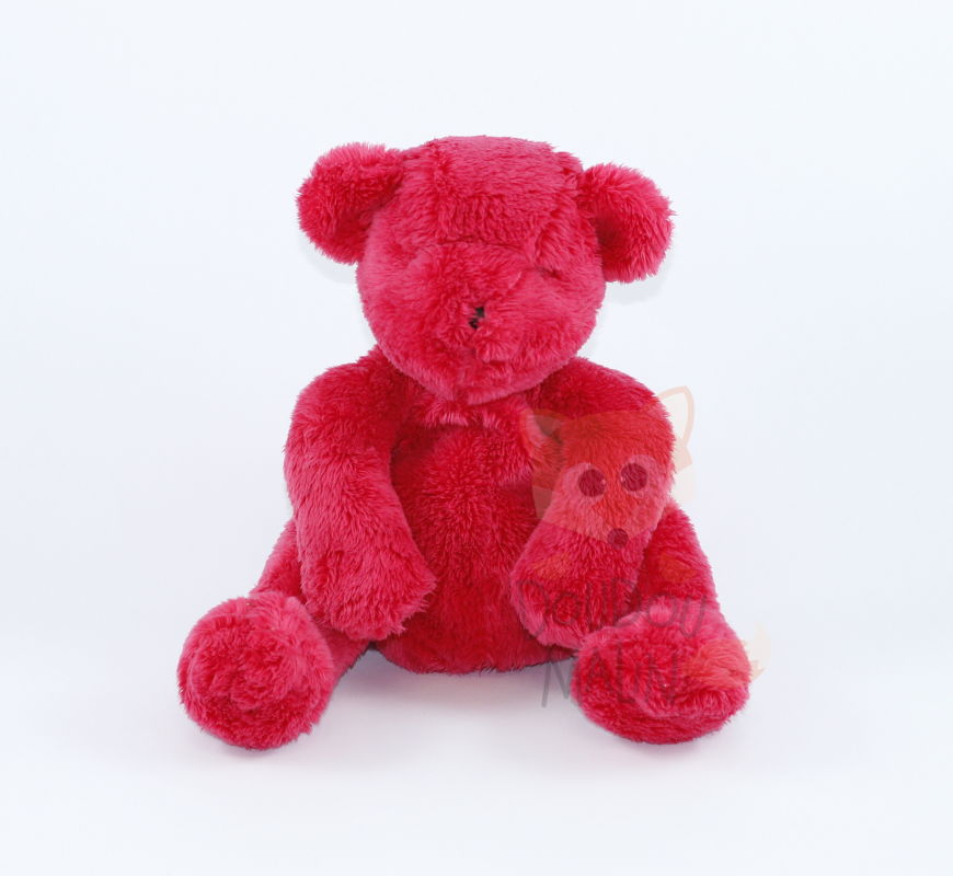 Dpam peluche ours rouge