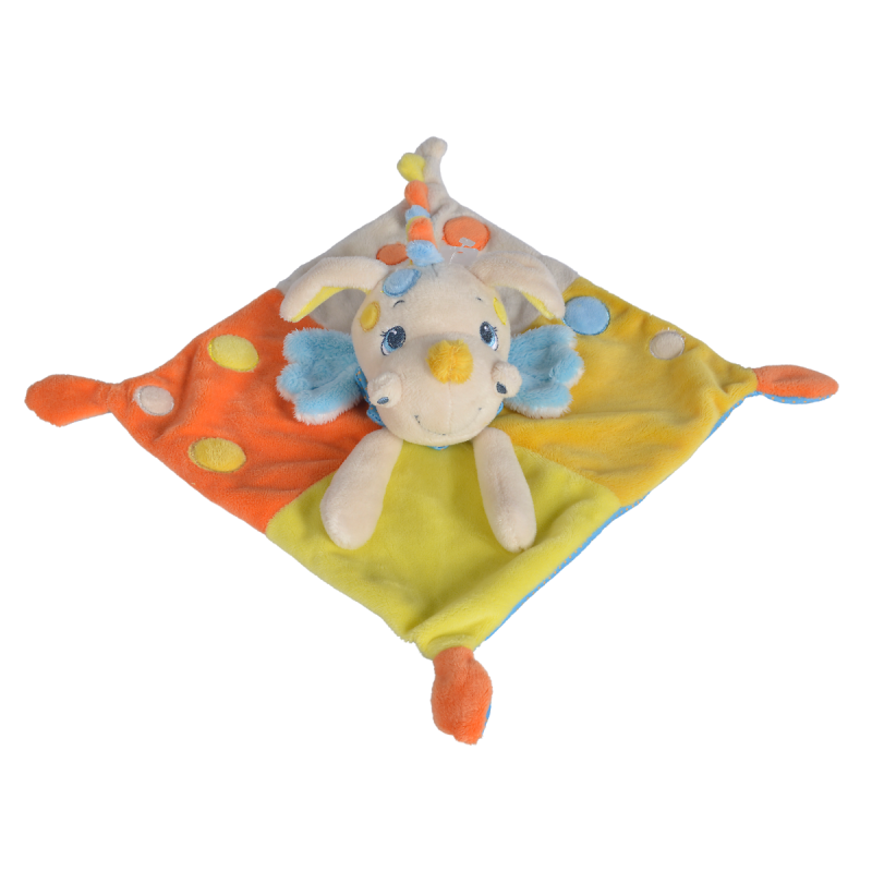 baron dragon plat jaune orange bleu 25 cm