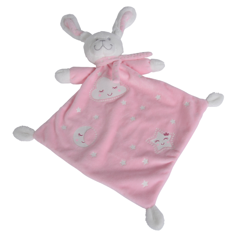 - new boone glow plat lapin rose 40 cm