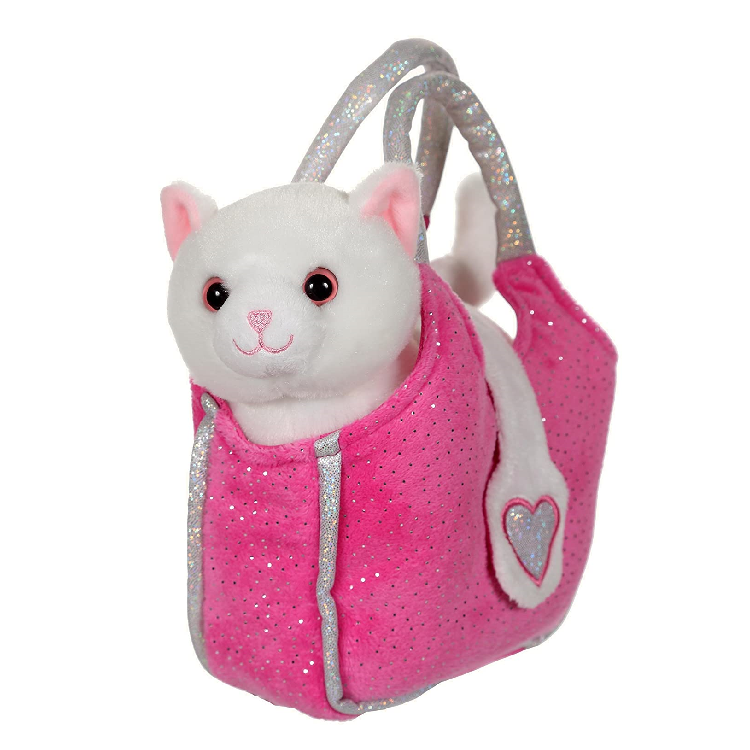 lovely bag chat blanc dans son sac 20 cm