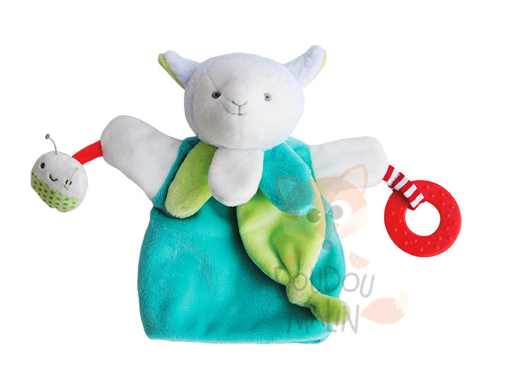 magic marionnette mouton vert blanc