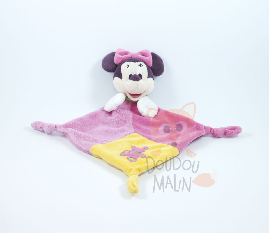 minnie souris plat rose jaune ours