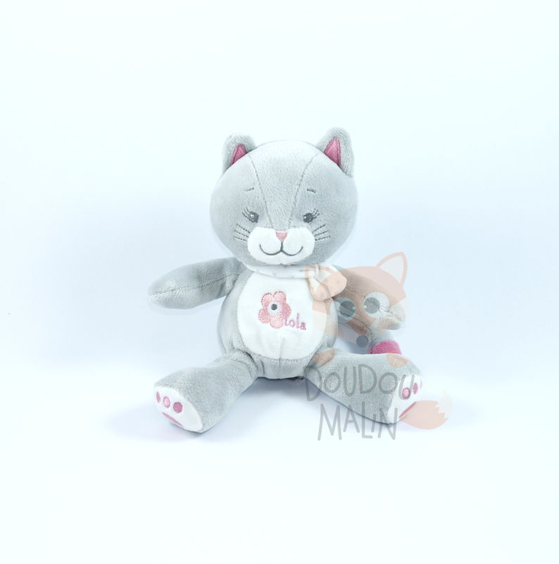 Bébisol chat lola gris rose