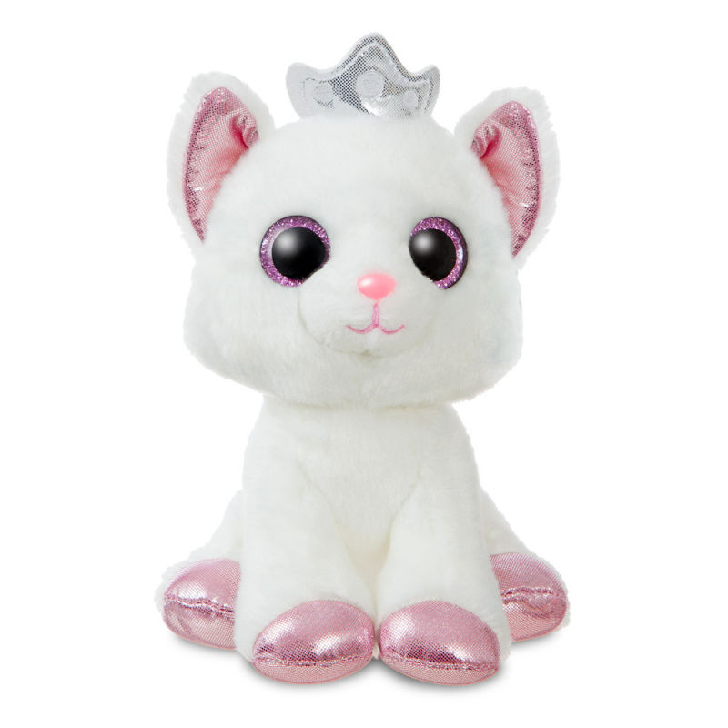 conte féerique peluche duchess chat blanc rose 18 cm