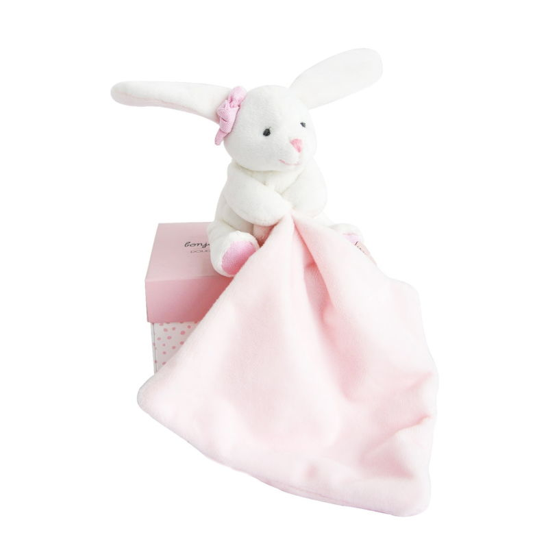 - lapin rose mouchoir blanc