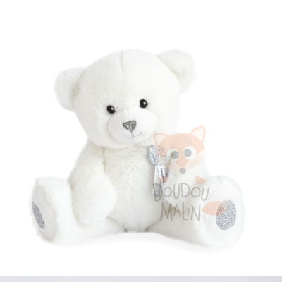 ours charms peluche blanc 24 cm