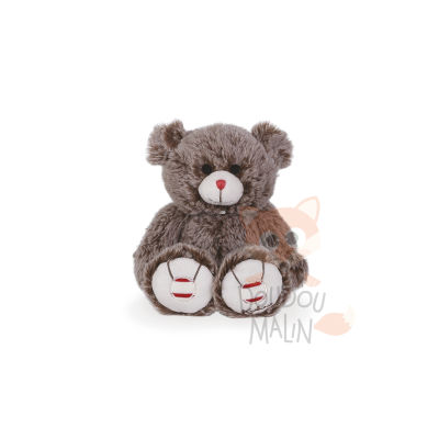 Rouge  peluche ours cacao marron