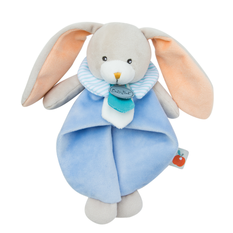 Pom lapin plat lapin bleu orange