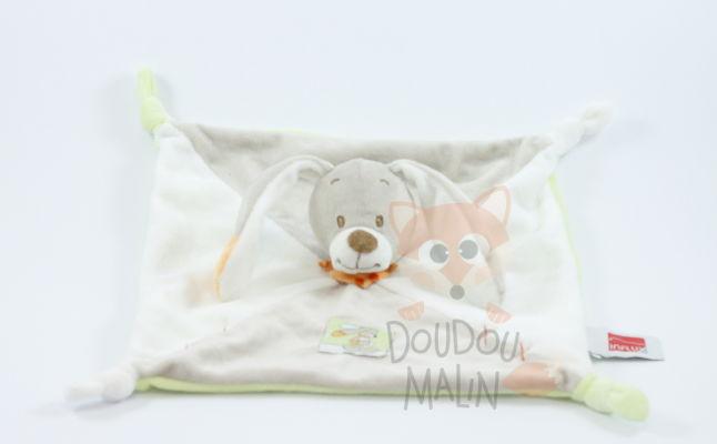 Influx Baby Comforter Rabbit Beige White Green Orange