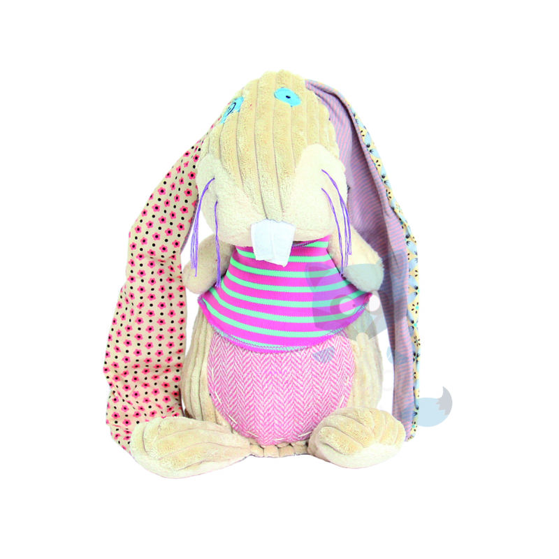 a7dcf58d257 The deglingos original lapinos the rabbit soft toy beige pink