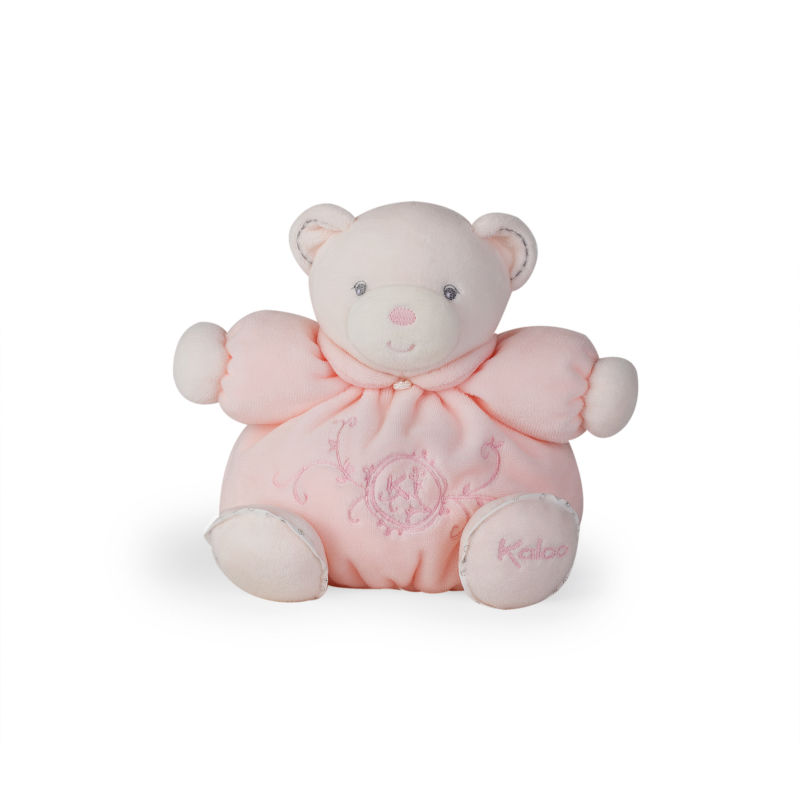 perle peluche ours rose 18 cm
