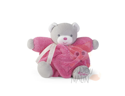 plume peluche ours rose framboise gris