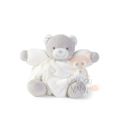 plume peluche ours blanc gris